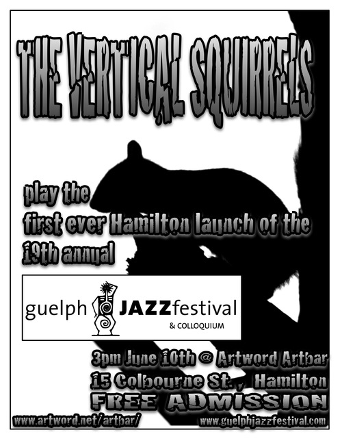 Vertical Squirrels play Guelph Jazz Festival Hamilton Launch